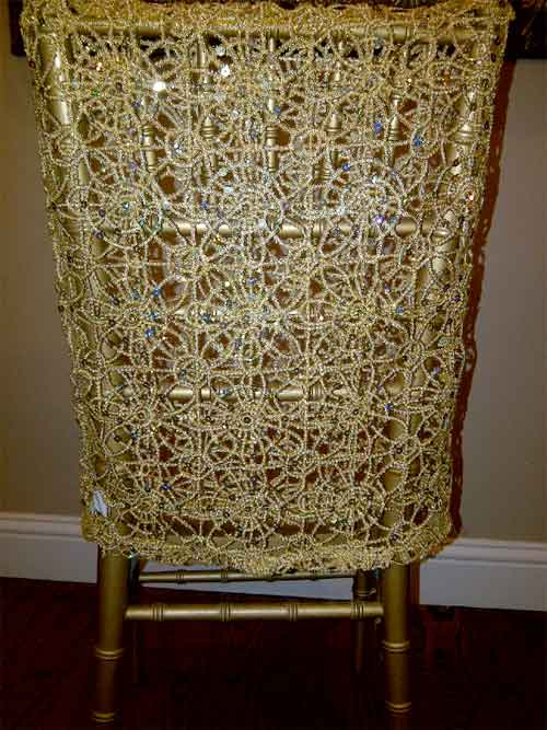 crochet beaded chair cover