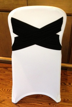 Diamond x Chair cover in black and white