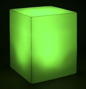 Green LED cube lights