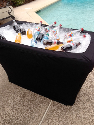 ice table cover, fitted table covers