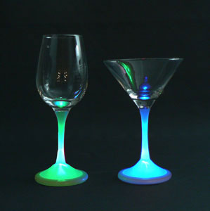 LED wine glasses