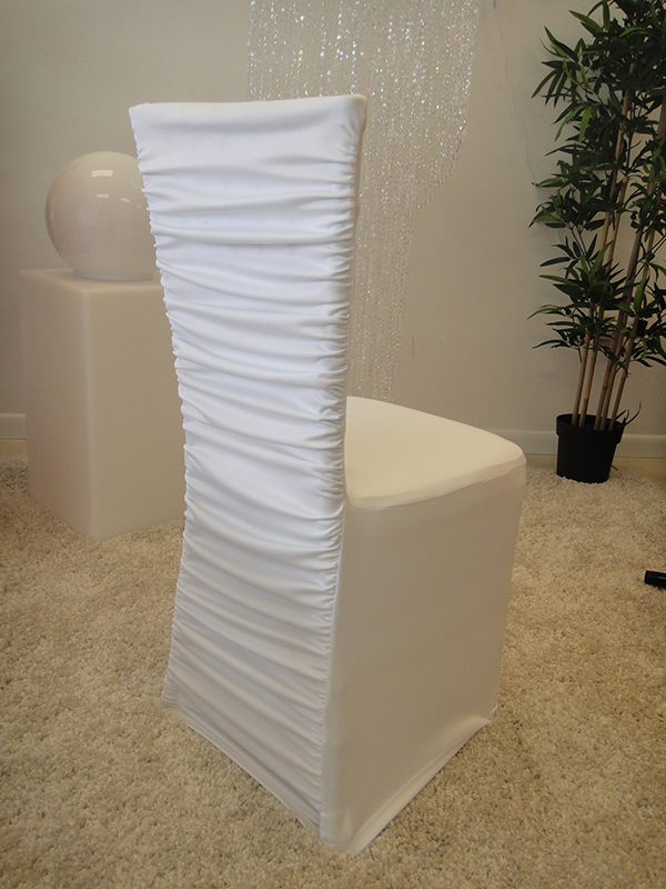 Ruched white table