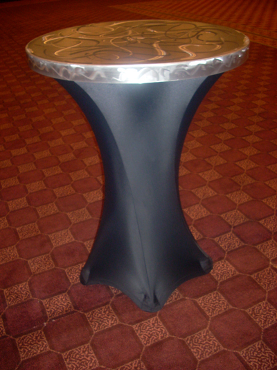 Silver Aluminum Tabletop for a cocktail table