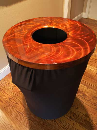 Copper Aluminum trashcan cover