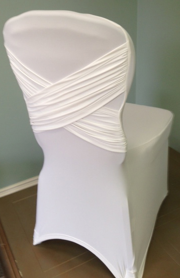 Diamond x Chair cover in white