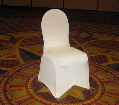 standard white spandex chair cover